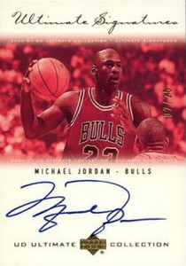 Michael Jordan Cards - 2000-01 Upper Deck Ultimate Collection Ultimate Signatures Gold Michael Jordan #/25