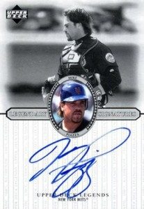 2000 Upper Deck Legends Legendary Signatures Mike Piazza Autograph