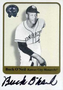 2001 Fleer Greats of the Game Autographs Buck ONeil