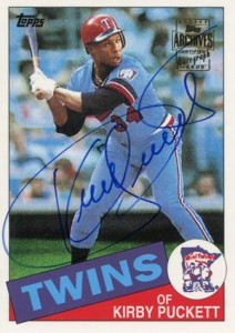 2001 Topps Archives Autographs Kirby Puckett