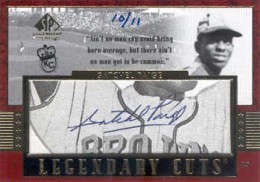 2003 SP Legendary Cuts Cut Signature Autograph Satchel Paige #/11