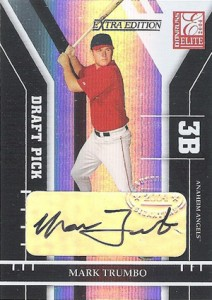 Mark Trumbo Rookie Card - 2004 Donruss Elite Extra Edition Mark Trumbo RC Autograph