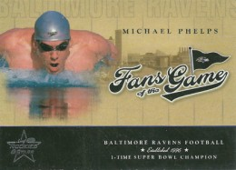 2004 Leaf Rookies and Stars Football Fans of the Game Michael Phelps
