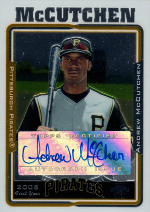 Andrew McCutchen Cards and Autographed Memorabilia Guide 2