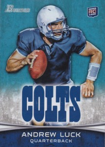 Andrew Luck Rookie Cards - 2012 Bowman Football Andrew Luck RC #150