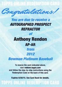 2012 Bowman Platinum Baseball Prospect Autographs Guide 1