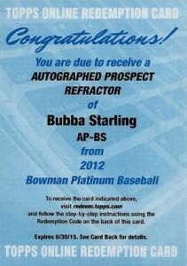 2012 Bowman Platinum Baseball Prospect Autographs Guide 5