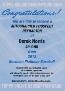 2012 Bowman Platinum Baseball Prospect Autographs Guide 14