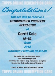 2012 Bowman Platinum Baseball Prospect Autographs Guide 16