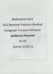 2012 Bowman Platinum Baseball Prospect Autographs Guide 17