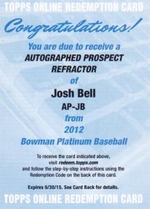 2012 Bowman Platinum Baseball Prospect Autographs Guide 18