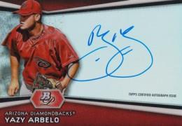 2012 Bowman Platinum Prospect Autographs Yazy Arbelo