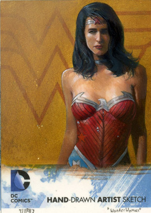 Exlcusive 2012 Cryptozoic DC Comics The New 52 Sketch Card Preview 1