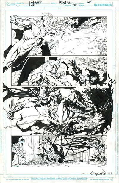 Original Comic Art Giveaway in 2012 Cryptozoic DC Comics The New 52 1