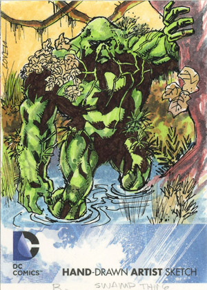 Exlcusive 2012 Cryptozoic DC Comics The New 52 Sketch Card Preview 2