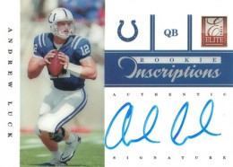 2012 Elite Football Rookie Inscriptions Andrew Luck Blue