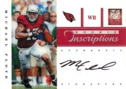 2012 Elite Football Rookie Inscriptions Michael Floyd Black