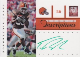 2012 Elite Football Rookie Inscriptions Trent Richardson Green