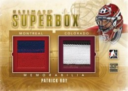 2012 ITG National Superbox Patrick Roy Dual Memorabilia