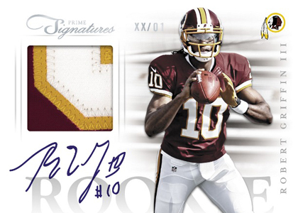 2012 Panini Prime Signatures Football Cards 7