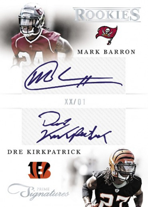 2012 Panini Prime Signatures Football Cards 4