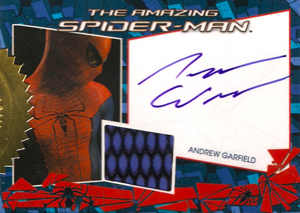 Amazing Spider-Man Autographs - 2012 Rittenhouse Amazing Spider-Man Autographed Costume Andrew Garfield as Spider-Man Trading Cards