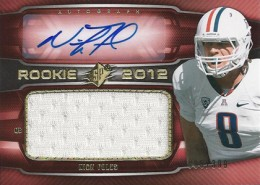 2012 SPx Football Rookie Auto Jersey 51 Nick Foles