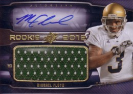 2012 SPx Football Rookie Auto Jersey 84 Michael Floyd