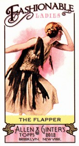 2012 Topps Allen & Ginter Fashionable Ladies FL-2 The Flapper