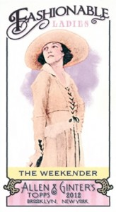 Fashionable Ladies and Guys in Hats Surprise in 2012 Topps Allen & Ginter 6