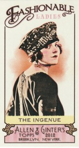 Fashionable Ladies and Guys in Hats Surprise in 2012 Topps Allen & Ginter 9