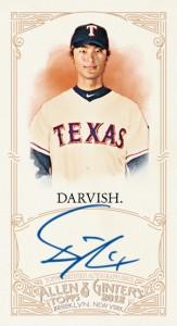 2012 Topps Allen & Ginter Autograph Yu Darvish