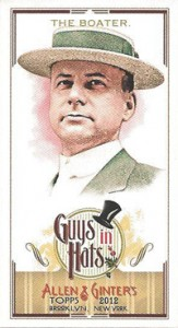 2012 Topps Allen and Ginter Baseball Guys in Hats GH-2 The Boater