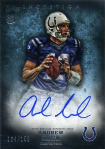 Andrew Luck Rookie Cards - 2012 Topps Inception Andrew Luck Autograph #/150