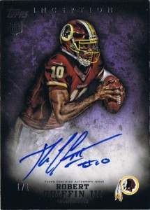 2012 Topps Inception Football Hot List 1