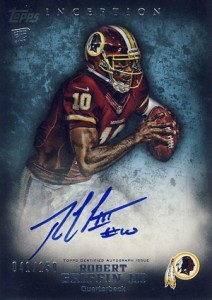 Robert Griffin III Rookie Cards - 2012 Topps Inception Rookie Autograph Blue Robert Griffin III