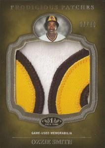2012 Topps Tier One Baseball Prodigious Patches Ozzie Smith