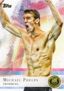2012 Topps US Olympic Team Gold Michael Phelps