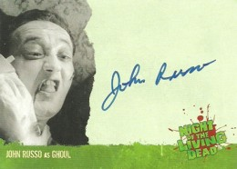 2012 Unstoppable Cards Night of the Living Dead Autographs A4 John Russo as Ghoul