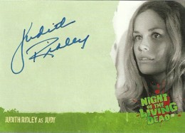 2012 Unstoppable Cards Night of the Living Dead Autographs A5 Judith Ridley as Judy