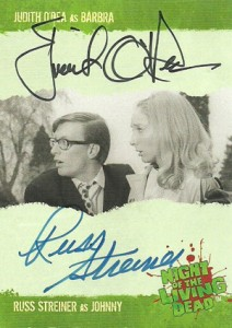 2012 Unstoppable Cards Night of the Living Dead Autographs A7 Judith ODea as Barbra and Russ Streiner as Johnny