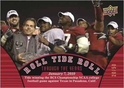 2012 Upper Deck University of Alabama Football Cards 4