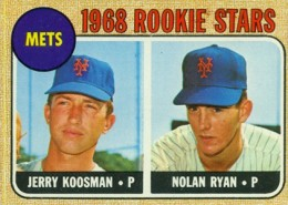 Nolan Ryan Cards - 1968 Topps Baseball Nolan Ryan RC