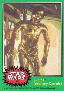 1977 Topps Star Wars Series 4 207 C-3P0 Corrected