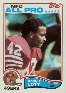 1982 Topps Football Ronnie Lott RC