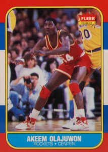 1986-87 Fleer Basketball Akeem Olajuwon RC