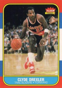 Clyde Drexler Cards and Memorabilia Guide 1