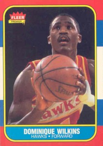 1986-87 Fleer Basketball Dominique Wilkins RC