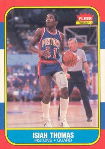 1986-87 Fleer Basketball Isiah Thomas RC
