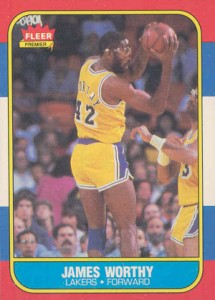 1986-87 Fleer Basketball James Worthy RC